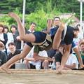 全隠岐相撲選手権大会(2)小学校女子の取り組み