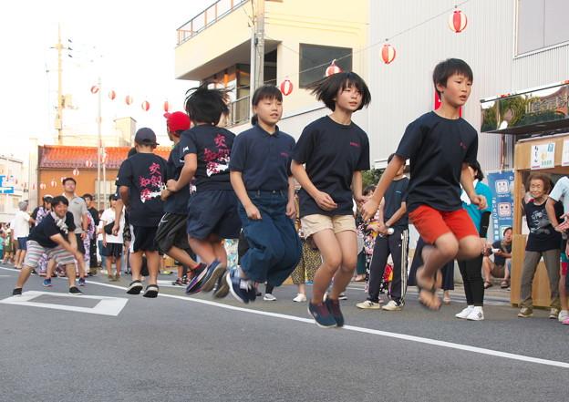 夏まつり(12) 縄跳び競争 東郷剣友会チーム