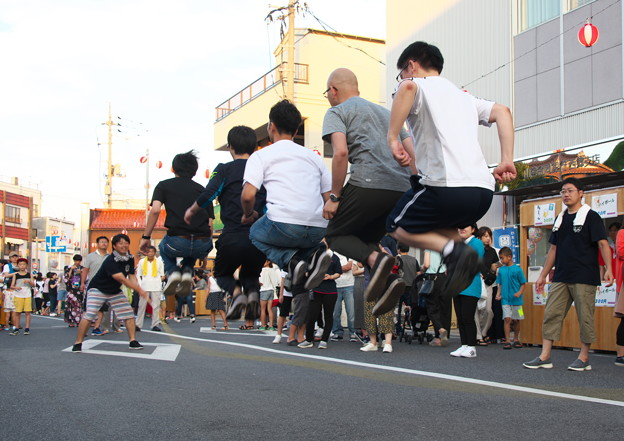 夏まつり(13) 縄跳び競争 一般男子チーム