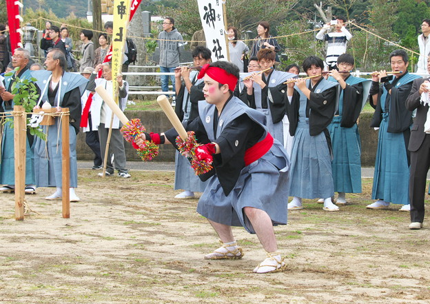 一歩方(一之森神社)の大どう打ち、 武良祭り(1)