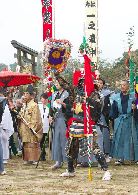 Photos: 武良祭り(3-2)、 一歩方(月の神・一之森神社)の行司