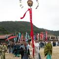 Photos: 武良祭り(4-1)、二歩方(太陽の神・八王子神社)、御尊形(三本足の烏・カラス)