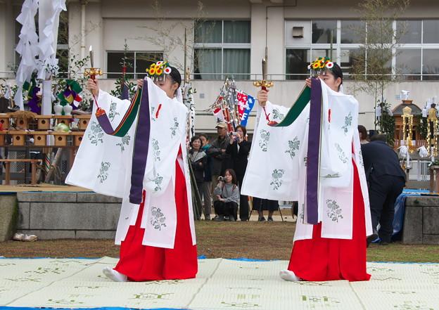 武良祭り(6)、浦安の舞