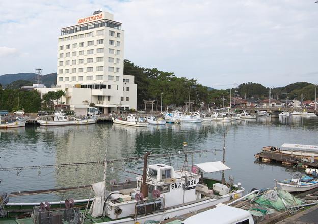 八尾川河口風景