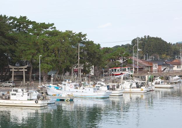八尾川河口・天神さん前、 港橋東詰めからの眺め