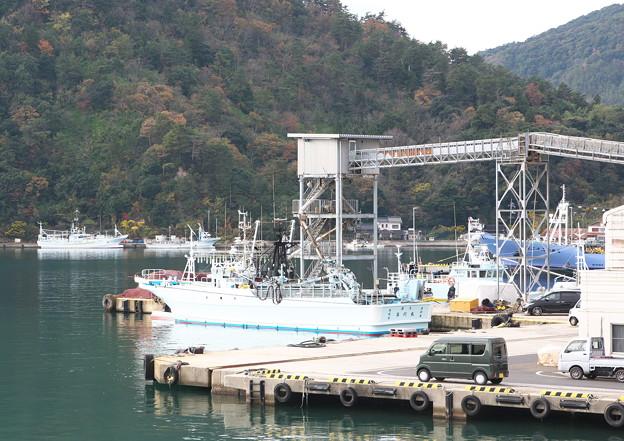 八尾川河口・巾着網本船、港橋東詰めからの眺め