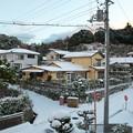 Photos: 自宅二階から、初雪の朝・東方面(3)
