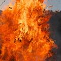 隠岐島後、今津とんど(6)猛火