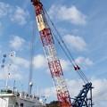 Photos: 西郷港の朝(6)クレーン船(1)