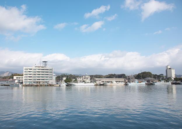 西郷港の朝(28)愛宕山ふもとからの眺め