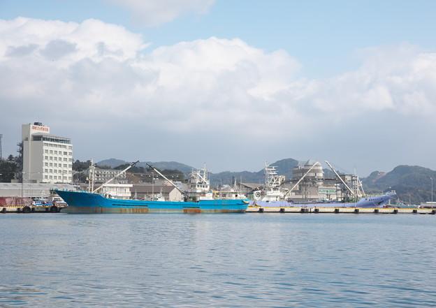 西郷港の朝(29)愛宕山ふもとからの眺め