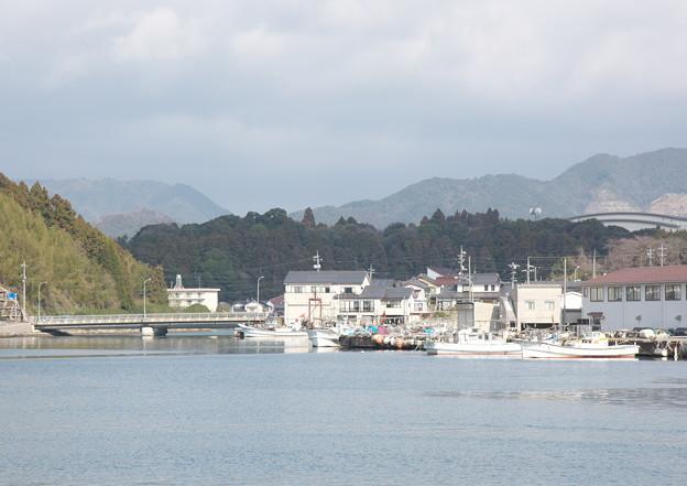 西郷港の朝(30)愛宕山ふもとからの眺め