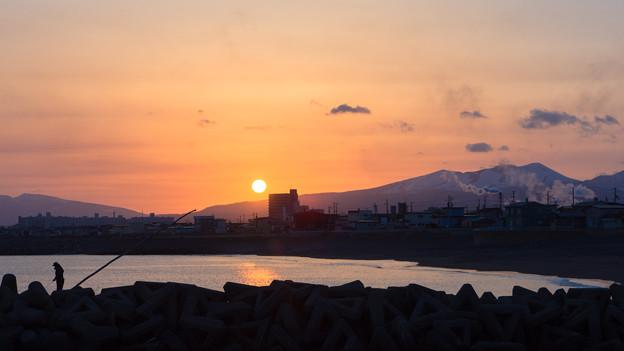 4月13日(金)の夕陽