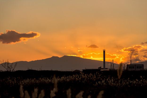 写真: 9月18日(火)の夕焼け