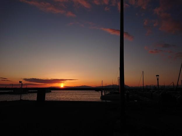 3月7日(木)の夕陽