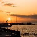 祝津臨海公園の夕陽