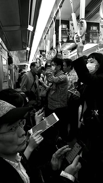 今夜の御堂筋線阪急電車能勢電車。3