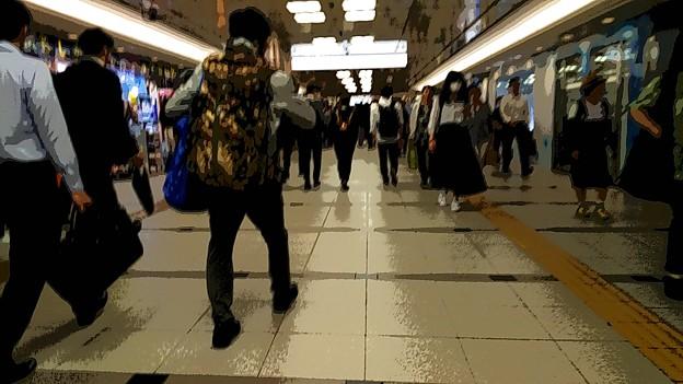 今夜の御堂筋線阪急電車能勢電車。5
