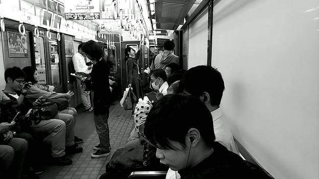 今夜の御堂筋線阪急電車能勢電車。8