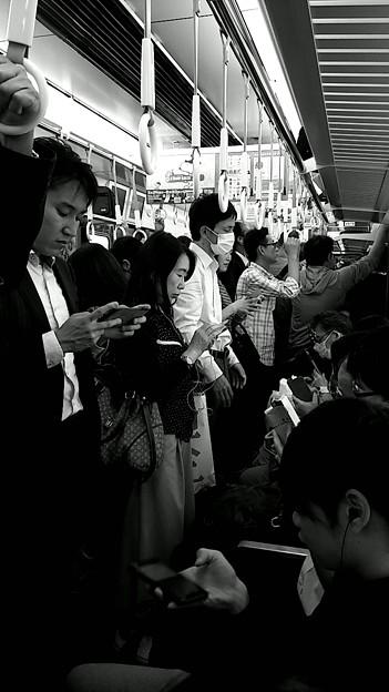 今夜の御堂筋線阪急電車能勢電車。12