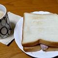 おはよう朝日ニッ…今朝はセレブ気取りでハミチントースト(°°)2