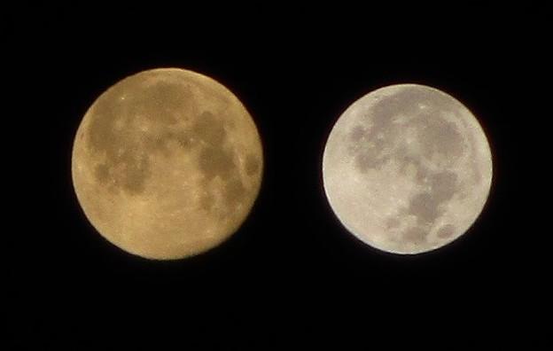 201101今年最大の月と最小の月