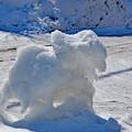 氷彫刻の悪戯?