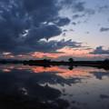 Photos: 茨戸川の夕べ
