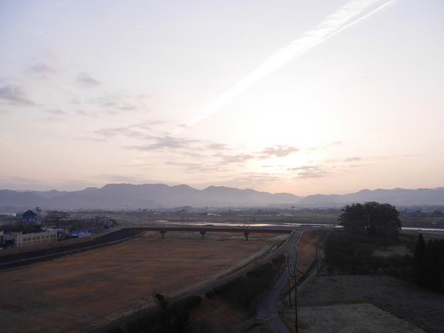 原鶴の朝焼け
