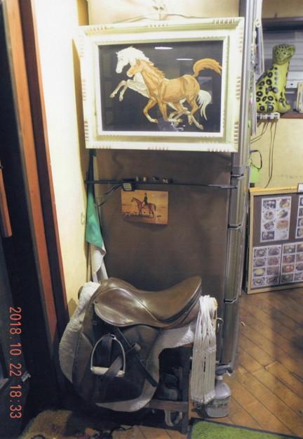 写真: 馬の刺繍