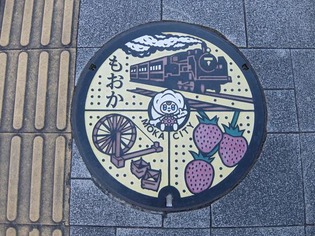 栃木・真岡市(マンホールカード図案)