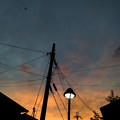 写真: 10/03 17:45 夕焼け