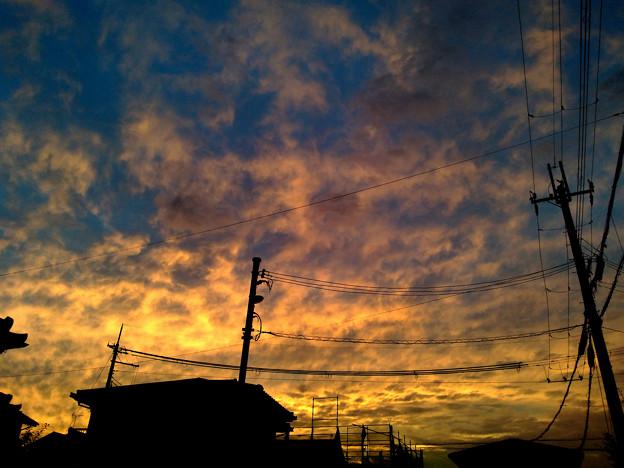 Photos: 10/03 17:43 萌える夕焼け