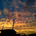写真: 10/03 17:43 萌える夕焼け