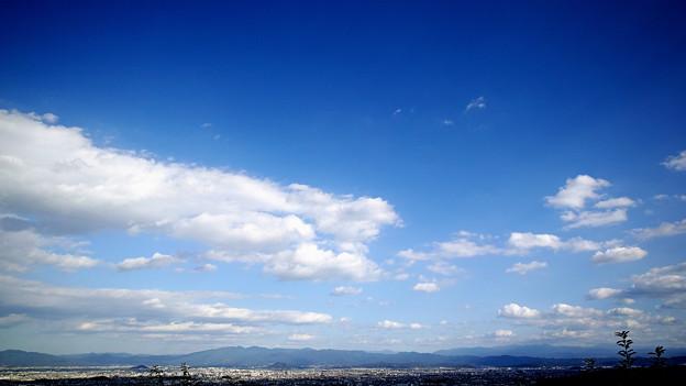大和平野(南部)の秋空