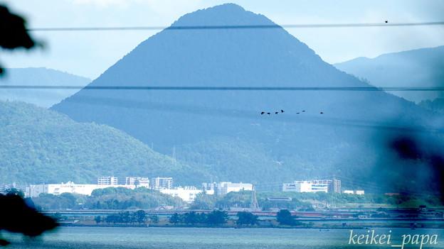 近江富士(三上山)遠望
