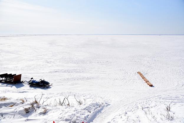 全面凍結した野付湾