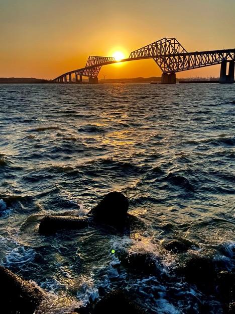 ゲートブリッジの夕陽