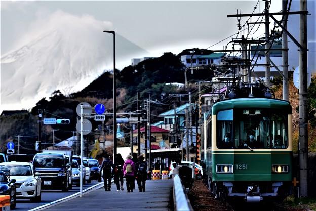 富士山と江ノ電