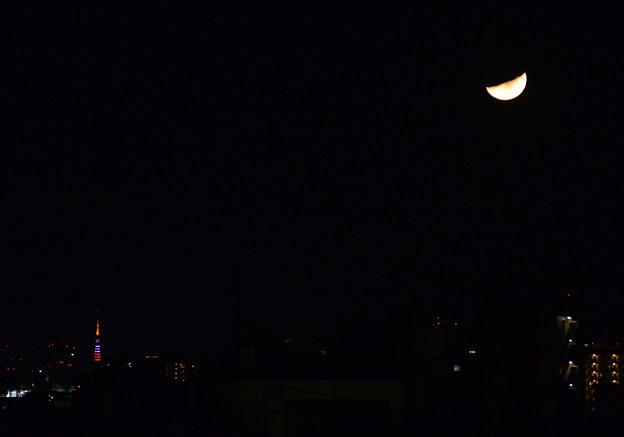 東京タワーとお月様