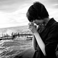写真: 海と私と