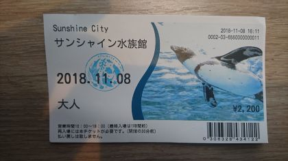 サンシャイン水族館181108