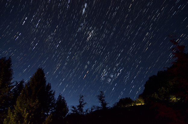 8月の東の夜空-1