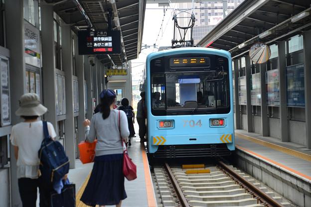 Romen Densha Hankai Tramway-1 始発天王寺駅