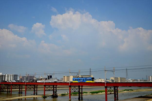Romen Densha Hankai Tramway-8 大和川鉄橋