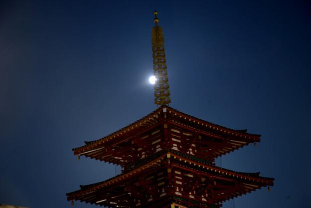 Photos: 四天王寺とスタージャンムーン#2