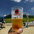 写真: 山に乾杯