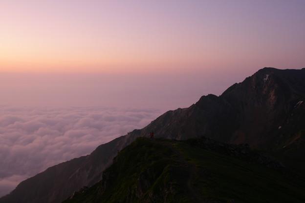 山で迎える朝
