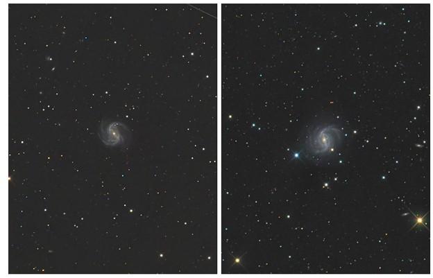 Photos: 棒渦巻銀河2態(NGC5020,NGC5291)