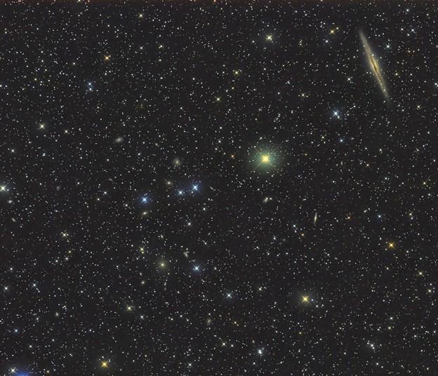 NGC891と周辺の銀河達